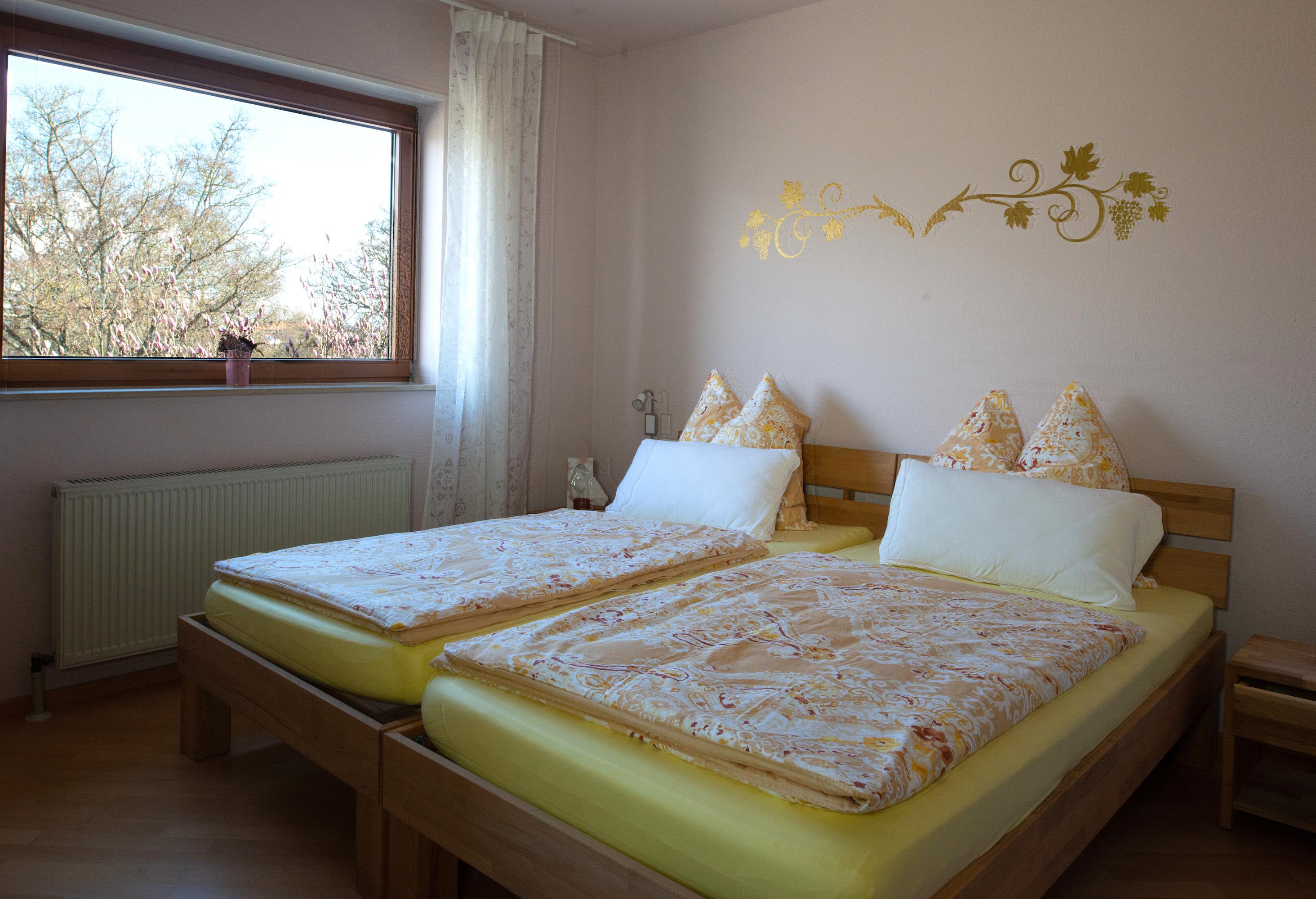 Schlafen unter goldenen Reben